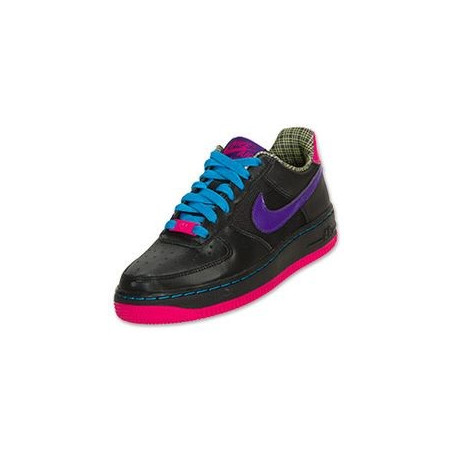 Nike Air Force 1 GS Bassa Nera Viola